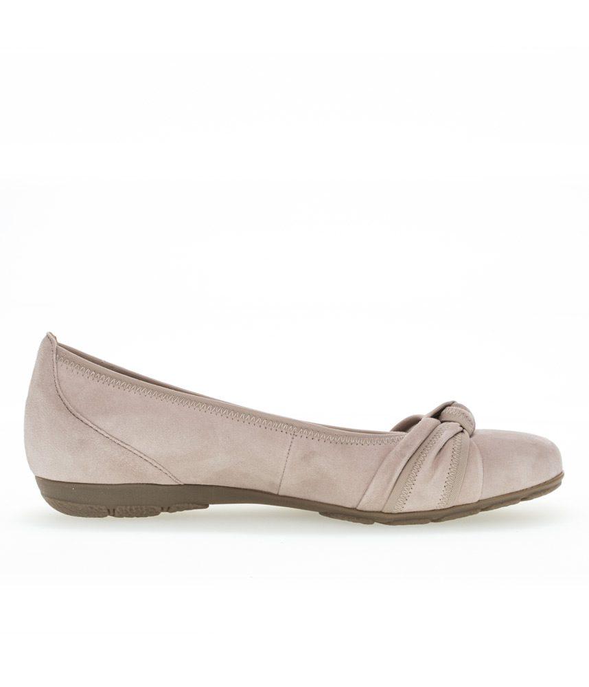Gabor Classic Rose Suede Knot Ballerina