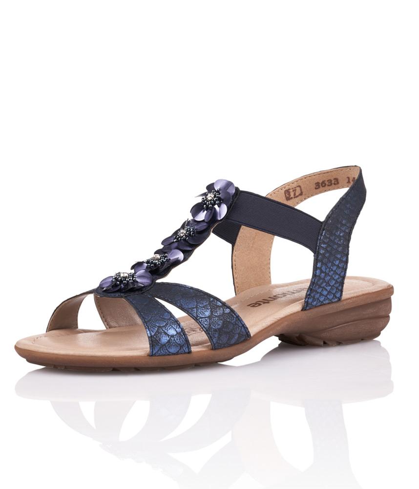 Remonte Metallic Blue Slingback Sandal