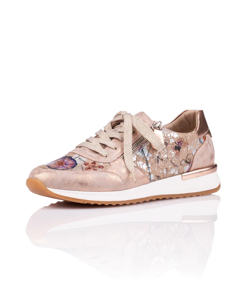 85dc9faae Remonte Casual Metallic Rose Floral Trainer – Cinderella Shoes
