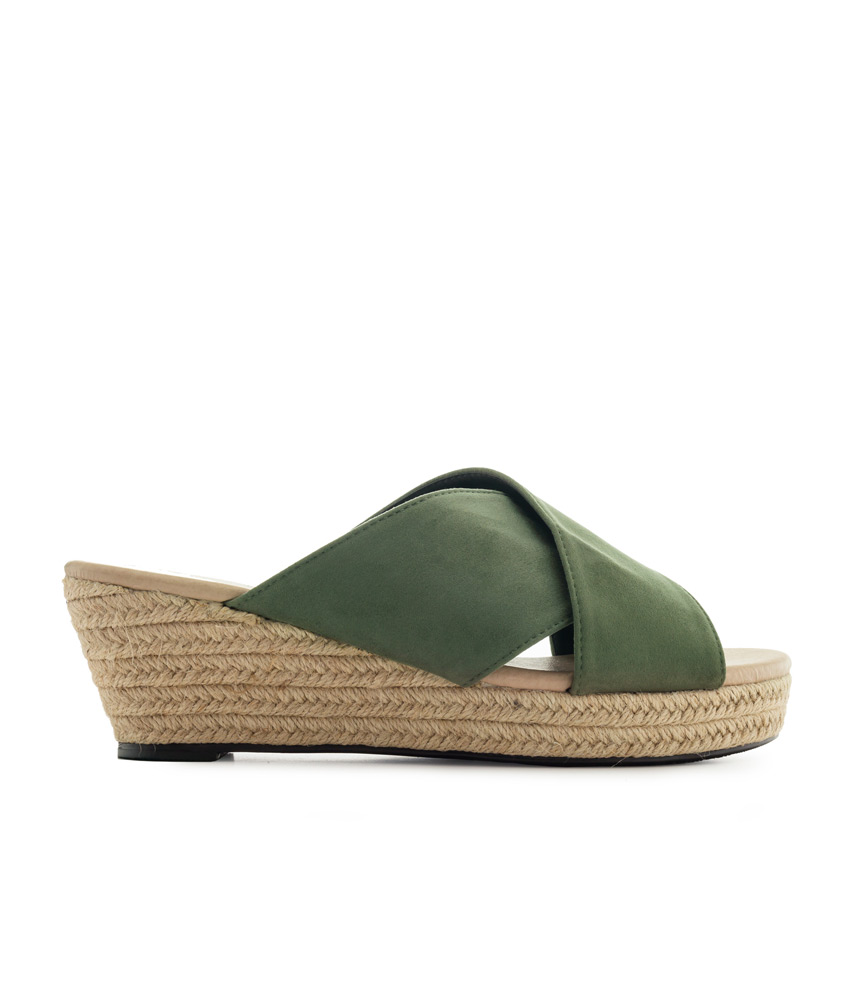 0d288384df4 Pretty Olive Espadrille Wedge