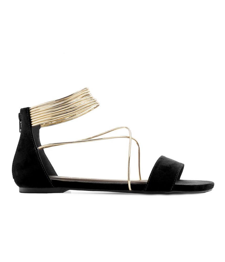64c48299b1beb Home / Beautiful Ladies Shoes in Large Sizes / Shop By Type / Sandals /  Multi-Strap Flat Sandals in Black Suede