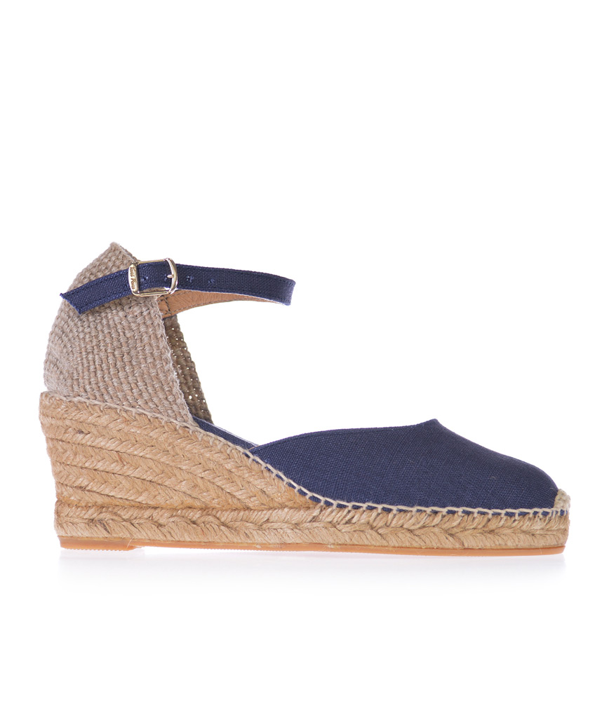 096d8ae58f Home / Beautiful Ladies Shoes in Large Sizes / Toni Pons / Pretty Closed  Toe Navy Espadrilles