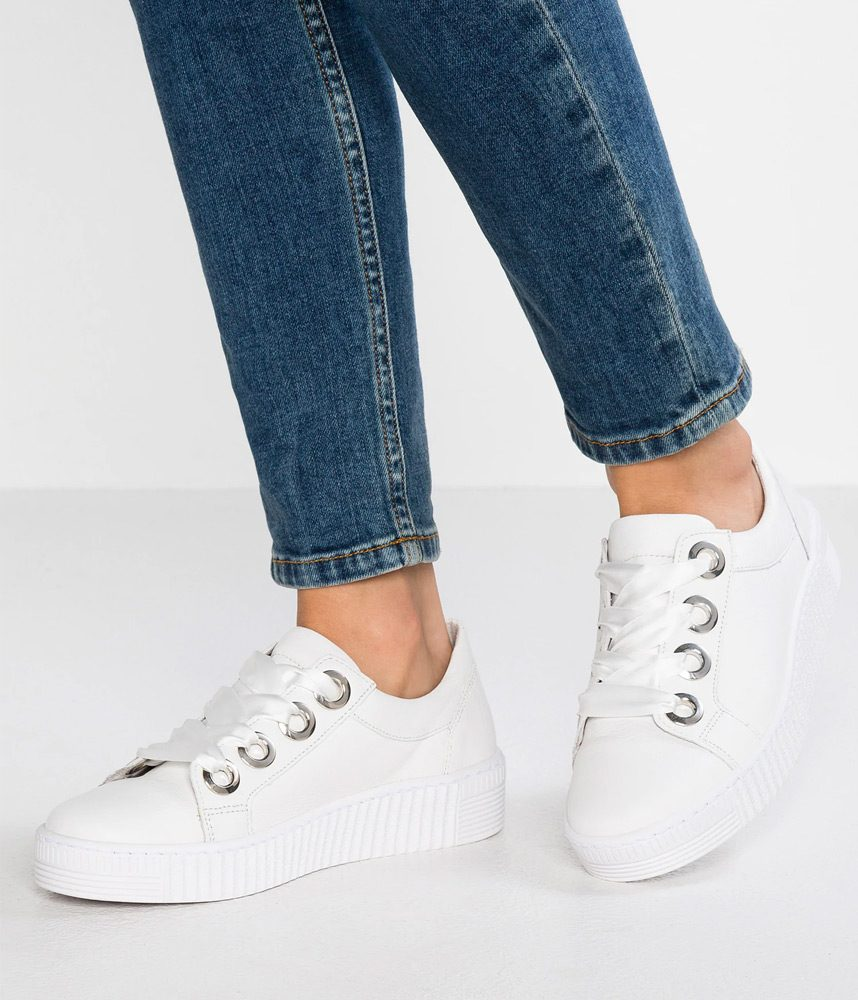 4499883d931e9 Fab White Leather Ribbon Lace Up Sneaker – Cinderella Shoes