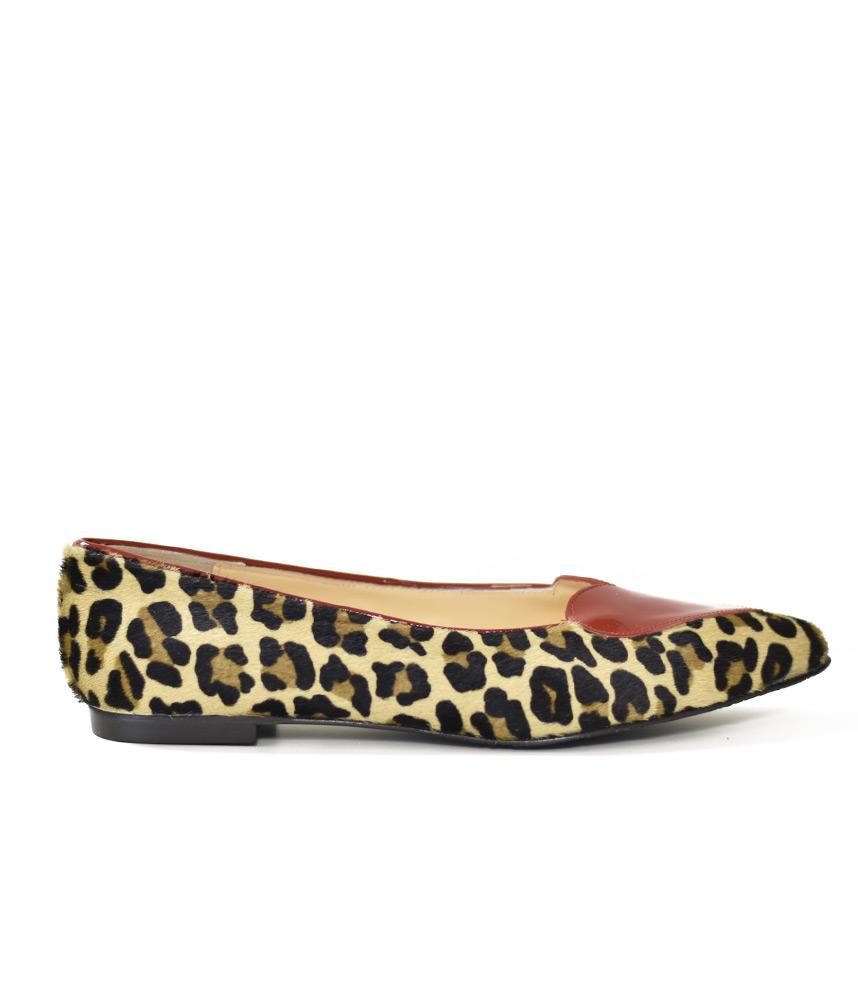 leopard print flat shoes uk