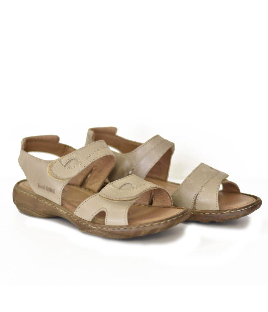 detailed look 781f7 ab653 Josef Seibel Beige Velcro Ladies Sandal