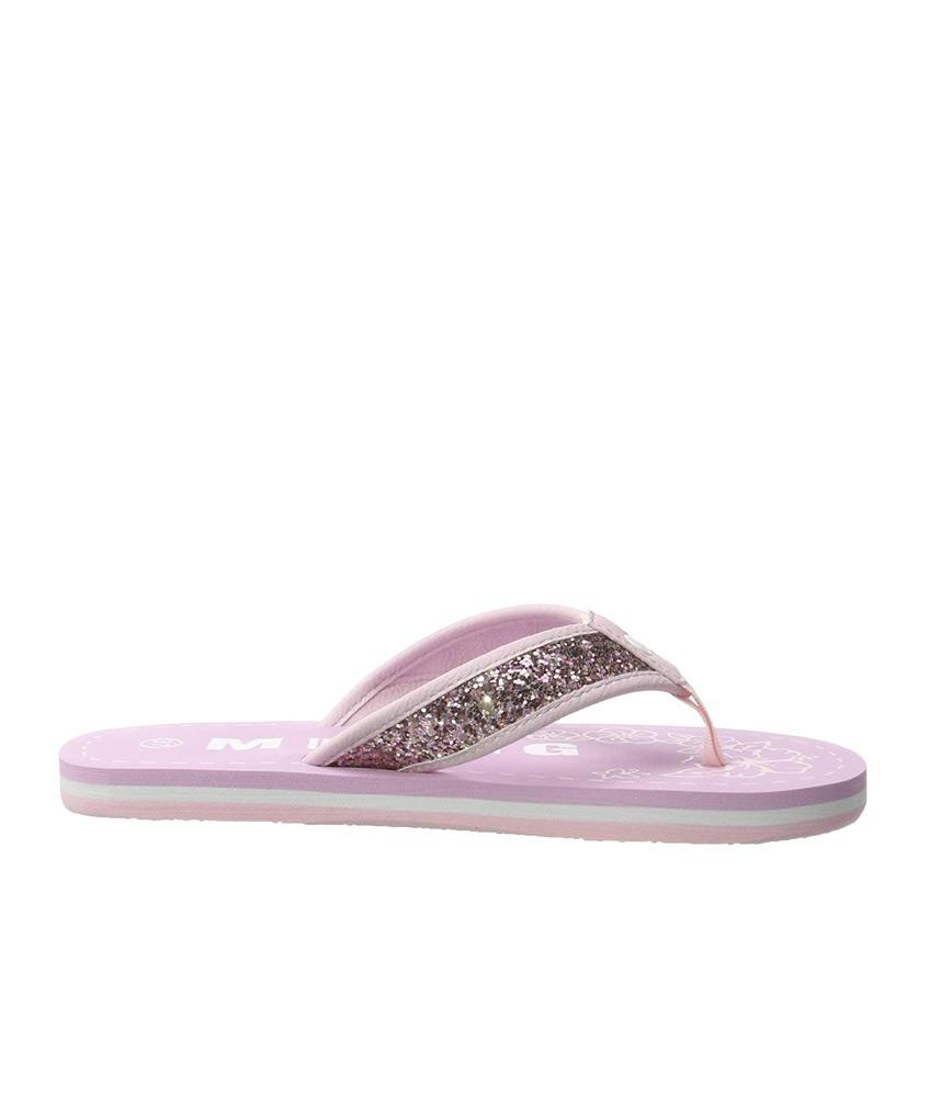 Mustang Pink Sparkle Flip Flop Sandals