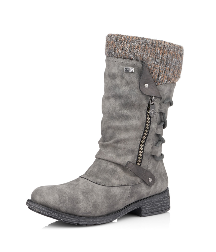 Remonte Grey Mid Length Warm Lined