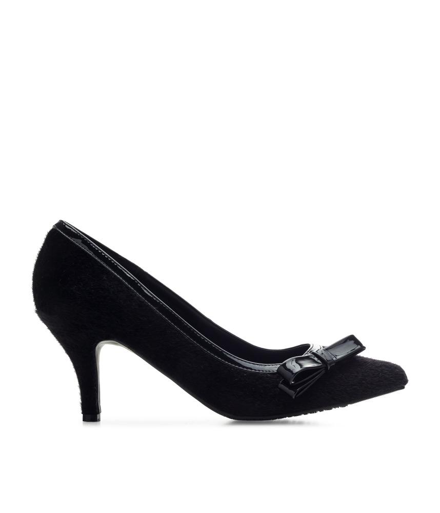 Beautiful Black Suede Stiletto Heels