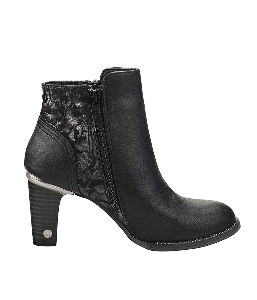 Mustang Funky Floral/Black Ankle Boots